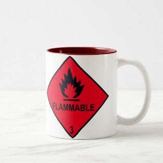 flammable Two-Tone coffee mug