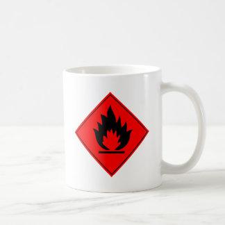 Flammable Warning Sign Coffee Mug