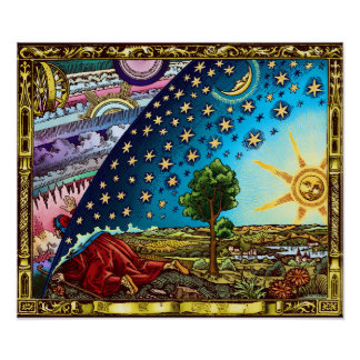 Flammarion Dome Poster