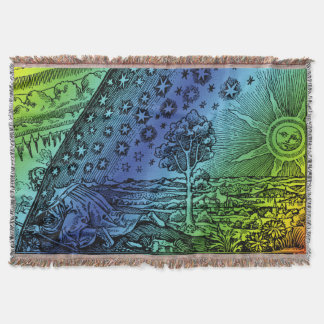 Flammarion Engraving Throw Blanket