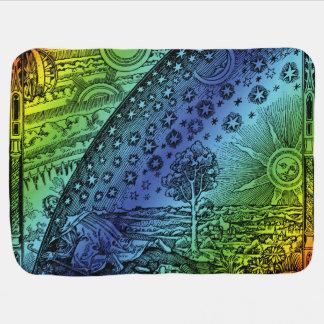 Flammarion Heaven and Earth Engraving Artwork Receiving Blanket