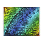 Flammarion Heaven and Earth Engraving Canvas Print