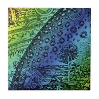 Flammarion Heaven and Earth Engraving Ceramic Tile