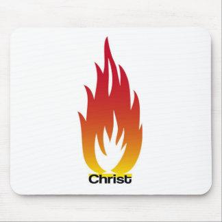 Flamme de Cristo Tapetes De Ratón