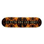 Flammen Explosion Personalisierte Skatedecks