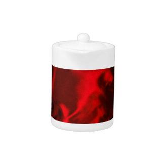 flamming red velvet vintage cafe style textile