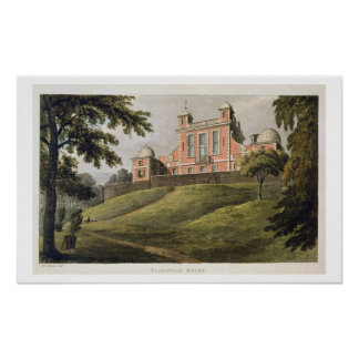 Flamstead House, from Ackermann's 'Repository of A Poster