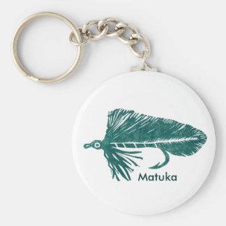 Flámula clásica de Matuka del verde del llavero de