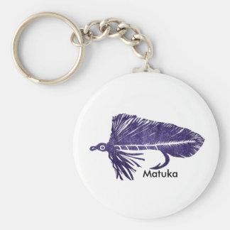Flámula púrpura de Matuka de la trucha del llavero