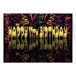 Flámulas del feliz cumpleaños 11 tarjeta de felicitación