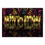 Flámulas del feliz cumpleaños 13 tarjeta