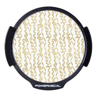 Flámulas del fiesta del brillo del oro en el fondo pegatina LED para ventana