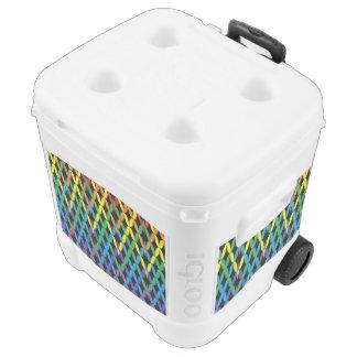 Flámulas del fiesta refrigerador del balanceo de cofre nevera con ruedas
