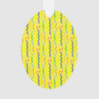 Flámulas multi del fiesta en el amarillo de neón