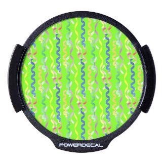 Flámulas multi del fiesta en el verde de neón decal LED para ventana