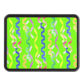 Flámulas multi del fiesta en el verde de neón tapas de tráiler