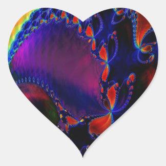 Flámulas Pegatina Corazón Personalizadas