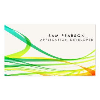 Flámulas que fluyen abstractas coloridas del tarjetas de visita