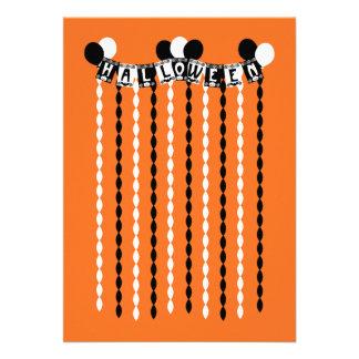 Flámulas retras del fiesta de Halloween