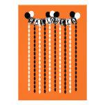 Flámulas retras del fiesta de Halloween Anuncio Personalizado