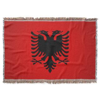 Flamuri i shqiperise throw blanket