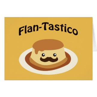 Flan-Tastico! Cute Flan Card