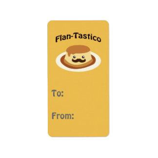 Flan-Tastico! Cute Flan Label
