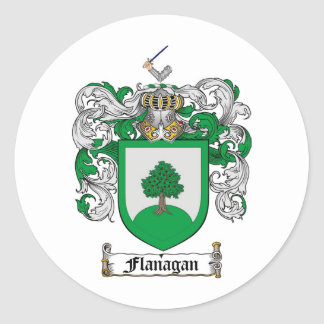 FLANAGAN FAMILY CREST -  FLANAGAN COAT OF ARMS CLASSIC ROUND STICKER