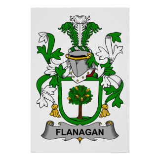 Flanagan Family Crest Poster