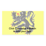 Flanders, Belgium flag Double-Sided Standard Business Cards (Pack Of 100)