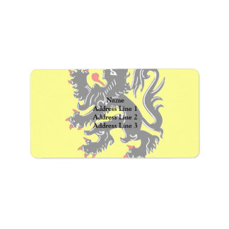 Flanders, Belgium flag Label
