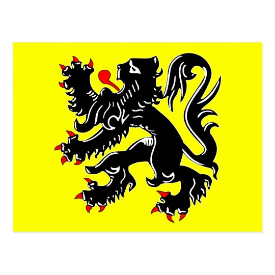 Flanders, Belgium flag Postcard