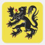 Flanders (Belgium) Flag Square Stickers
