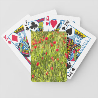Flanders Poppies Bicycle Playing Cards
