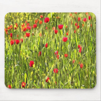 Flanders Poppies Mouse Pad