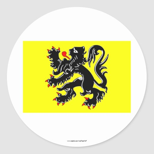 Flanders Region Flag Sticker