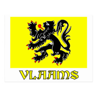 Flanders Region Flag with Name Post Card