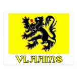 Flanders Region Flag with Name Postcard