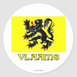 Flanders Region Flag with Name Sticker