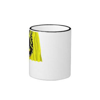 Flanders Region Waving Flag Ringer Coffee Mug