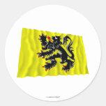 Flanders Region Waving Flag Sticker