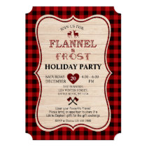 Flannel and Frost Lumberjack Christmas Holiday Invitation