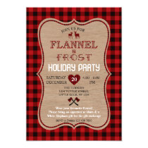 Flannel and Frost Lumberjack Holiday Party Invitation