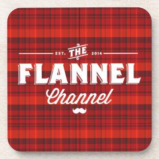Flannel Channel Logo Coasters