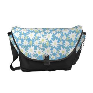 Flannel Flower Satchel Messenger Bag