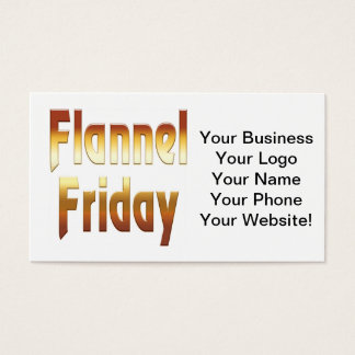 Flannel Friday Gold Business Card