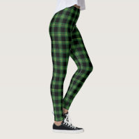 Flannel Green Buffalo Plaid Pattern Fall Autumn Leggings