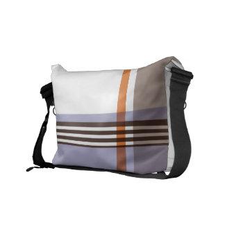 Flannel Pattern Messenger Bag