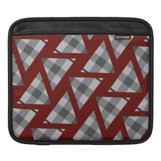 Flannel Triangle Pattern red iPad Sleeve