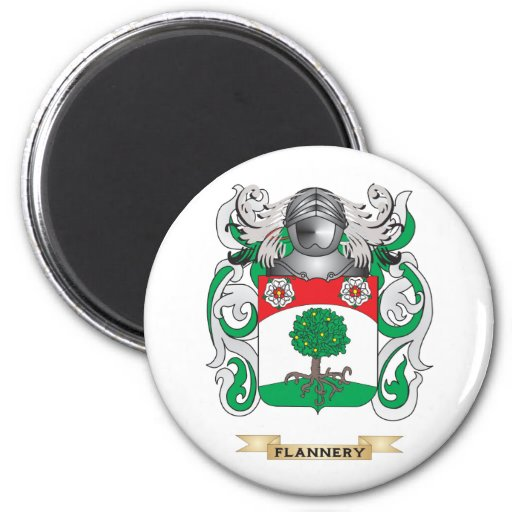 Flannery Coat of Arms 2 Inch Round Magnet